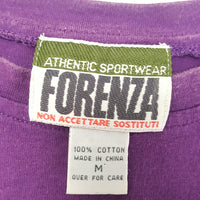 vintage 1980s Purple FORENZA T-Shirt - Men's Medium