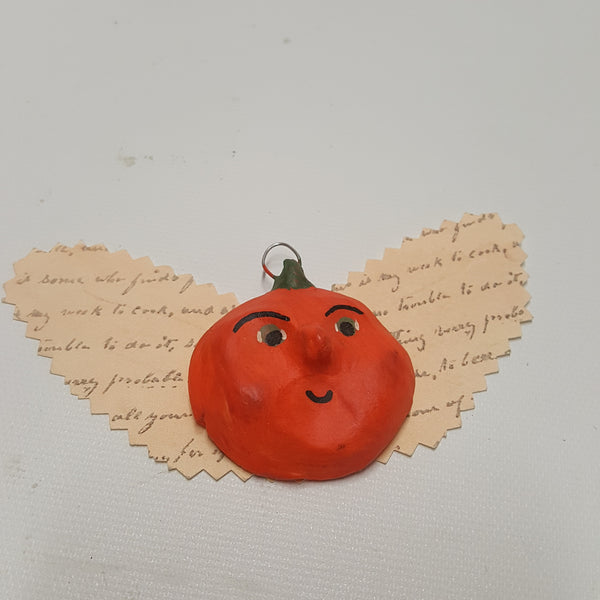 Pumpkin Head Angel Halloween Ornament