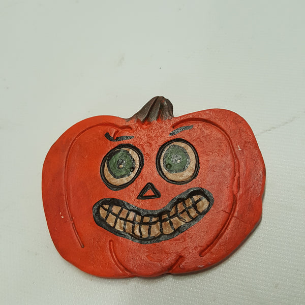 Smiling Pumpkin Head Halloween Pin