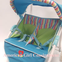 American Girl Doll Bitty Twin Striped Stroller  ***LOCAL PICK UP ONLY (READ)***
