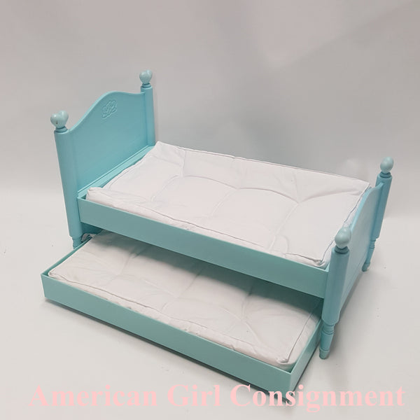 American Girl Doll Bitty Twin Blue Trundle Bed   **LOCAL PICK UP ONLY (READ)**