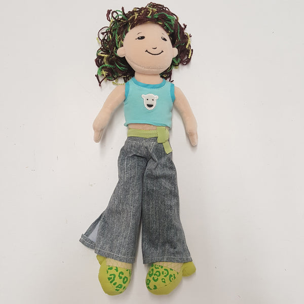 GROOVY GIRLS doll  - Caring Caitlin - Brown Hair Green Highlights