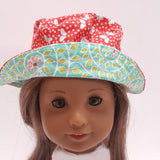 Butterfly Sun Hat for 18 inch dolls
