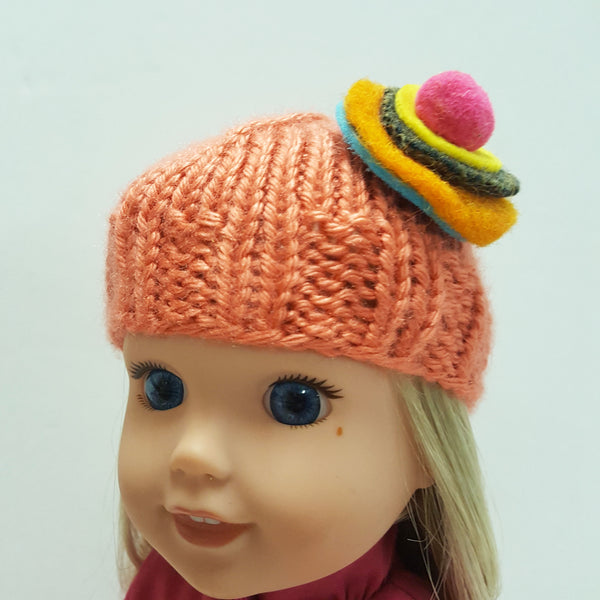 Roolla Salmon Cap for Wellie Wishers 14 inch Dolls