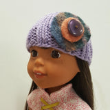 Roolla Lilac Cap for Wellie Wishers 14 inch Dolls