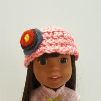 Roolla Pink Scallop Edge Hat for Wellie Wishers 14 inch Dolls
