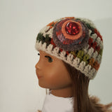 Roolla Autumn Knit Cap for 18 inch Dolls