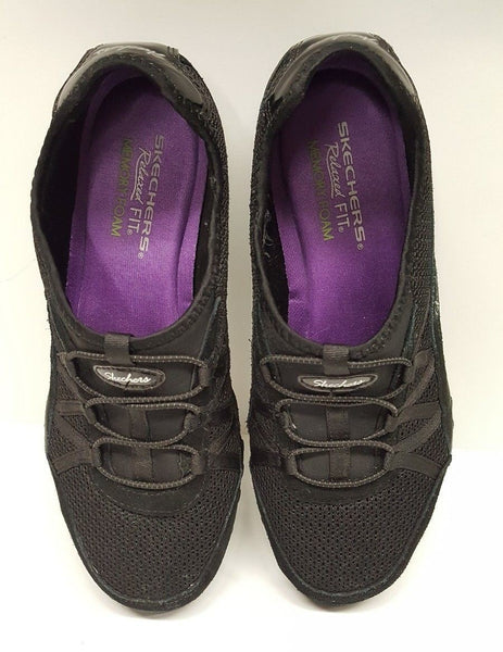 Skechers Relaxed Fit Womens Size 8.5 Shoes Memory Foam Black SN 22463