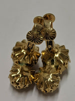 VINTAGE VENDOME Signed Double Ball CLIP EARRINGS Cluster