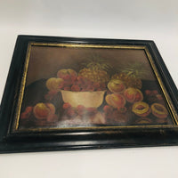 Early Fruit Still Life Oil Painting