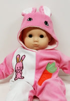 Pink Bunny Sleeper fits American Girl Bitty Baby