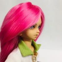 New Candy Pink Long MSD Ball Jointed Doll Wig