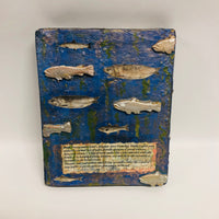 Fish and Pond Relief Plaque