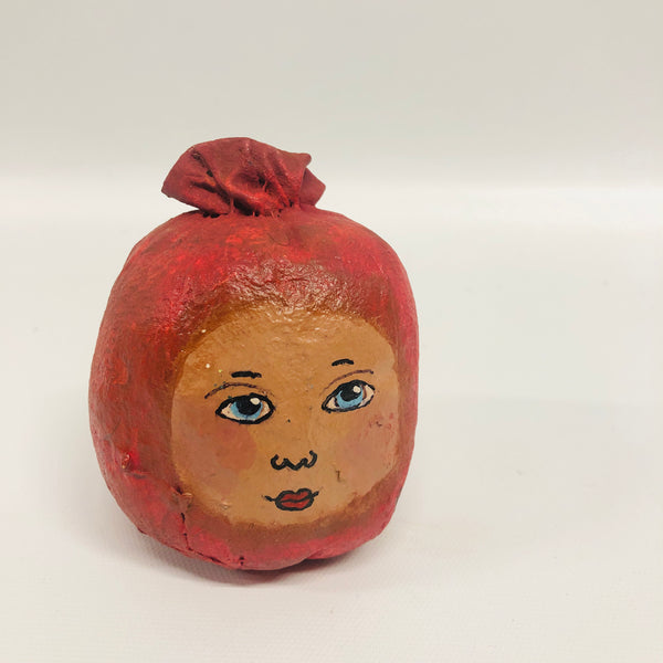 Folk Art Apple Head
