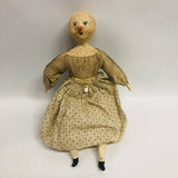 Tamar Folk Art Snow Girl Paper Mache Doll