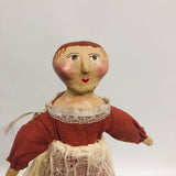 Kizzy Folk Art Paper Mache Little Girl Doll