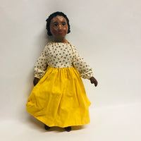 Tinecia Folk Art Paper Mache Black Gil Doll