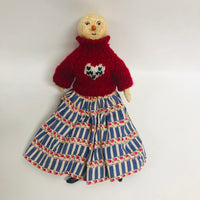 Ashona Folk Art Snow Girl Paper Mache