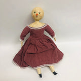 Jazzmina Folk Art Snow Girl Doll Paper Mache