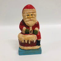 Folk Art Santa Claus in Chimney