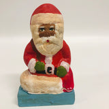 Folk Art Black Santa Claus