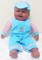 BERENGUER Laughing Happy Baby in Teal Outfit