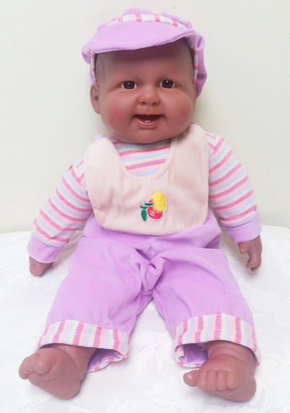 BERENGUER Laughing Happy Baby in Lilac Outfit