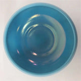 Blue Iridescent Slag Art glass Bowl
