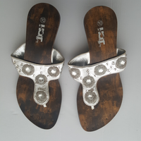 Silver Rhinestone beaded Sandals Hot Traffic - size 10