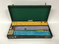 vintage 1940s MahJong Set with Bakelite tiles with carrying case