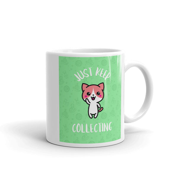 Just keep Collecting Mug - green