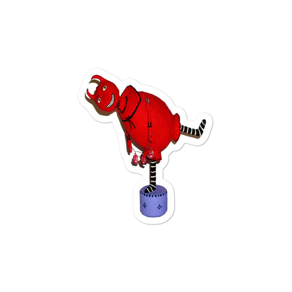 Dancing Red Devil Sticker