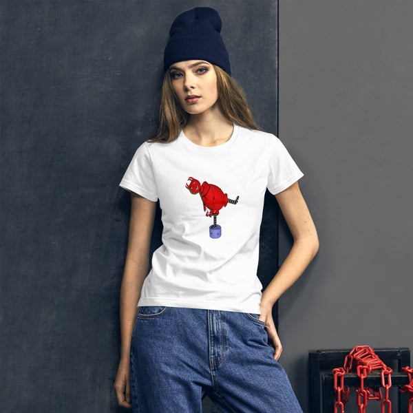 Dancing Red Devil Women's short sleeve t-shirt