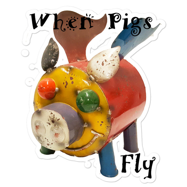 When Pigs Fly Sticker - left