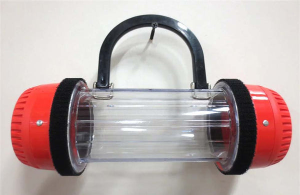Handcrafted Pneumatic Tube Purse - Red and Clear, One of a Kind