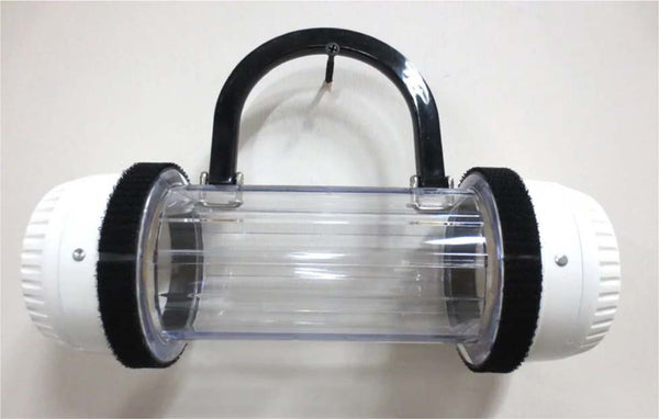 Handcrafted Pneumatic Tube Purse - White and Clear, One of a Kind