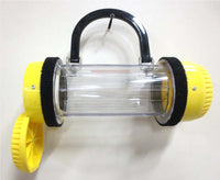 Handcrafted Pneumatic Tube Purse - Yellow and Clear, One of a Kind