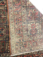 Antique Hand Knotted Persian Bakhtiari Oriental Rug