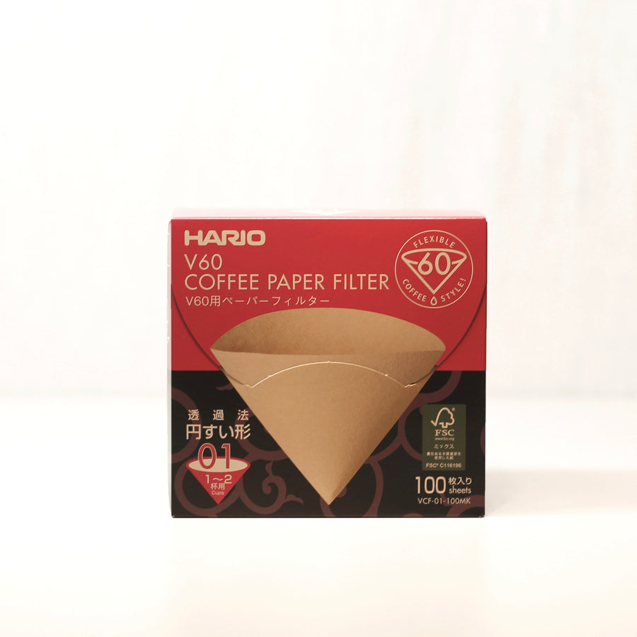 Hario V60 Unbleached Filter Papers 1 Cup
