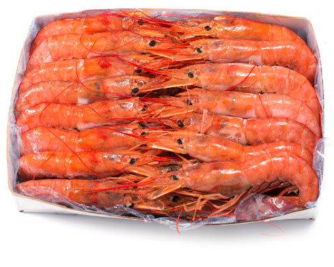 ARGENTINA RED  SHRIMP HEAD-ON 4.4 LB PACK FROZEN