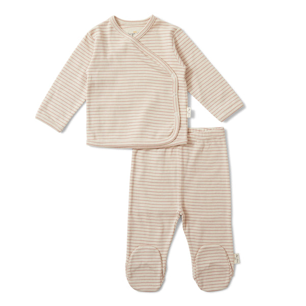 Konges Sløjd 2-delig newborn set shirtje met broekje Dio rose blush