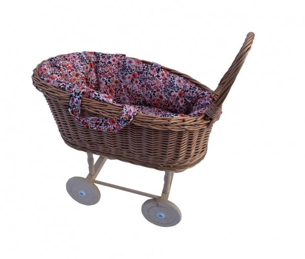 Hollie rieten poppenwagen retro flower