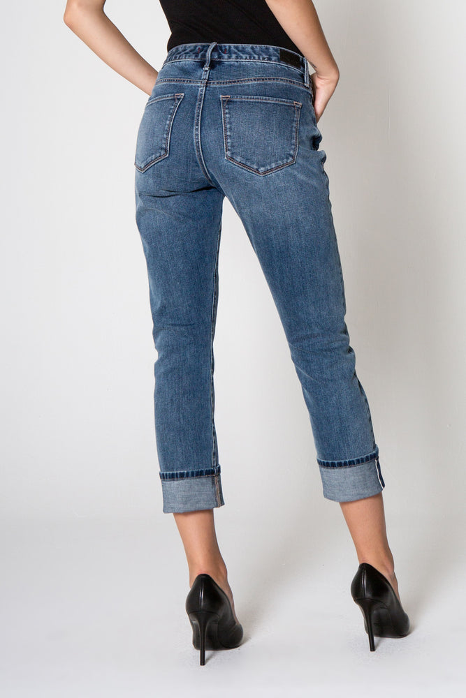Load image into Gallery viewer, BLAIRE CUFFED JEANS