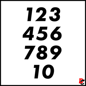 Large Numbers Decal