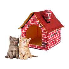 Load image into Gallery viewer, Dog House Red Brick Pet House with Chimney
