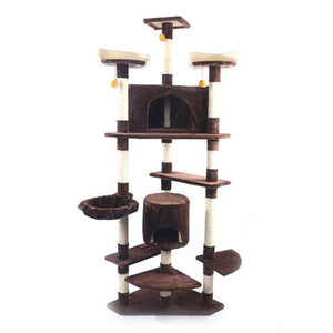 "M9c 52"" Sisal Cat Climbing Frame Cat Tree Cat Toy Brown Can Be Used As a Climbing Toy Or Bed For Cats Versatile And Practical"