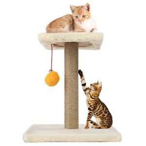 Pet Cat Tree with  Rope Swing