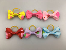 Load image into Gallery viewer, (100 pieces/lot) Cute Ribbon Pet Grooming Accessories Handmade Small Dog Cat Hair Bows With Elastic Rubber Band 121 Colors