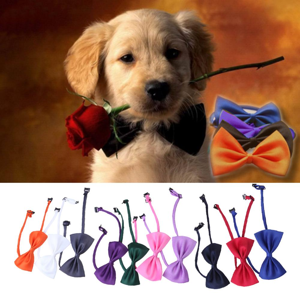 10 Pcs/set Lovely Cute Bow Tie For Dog Cat Pet Necktie Neck Collar Dog Gentel Makeup Supplies Pet Christmas Party Decoration