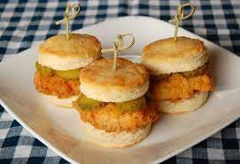 Southern fried chicken and biscuit sliders (2)